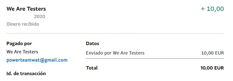 recibo we are testers